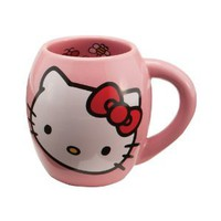 Amazon.com: Vandor 18062 Hello Kitty Ceramic Mug, Pink, 18-Ounce: Kitchen & Dining