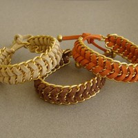 Summer Tan - Fishbone Braid Bracele.. on Luulla