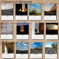 2013 Train Calendar 5x7 Loose Page Calendar Fine Art Photography Prints Desk Calendar Wall Calendar Photography Calendar