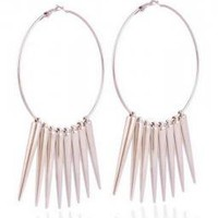 Spike Large Hoop Earrings