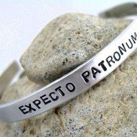 Harry Potter Bracelet Expecto Patronum Hand Stamped by foxwise