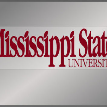 Mississippi State University Wordmark static decal MSU