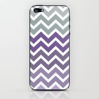 Purple Fade Chevron Zigzag Pattern iPhone & iPod Skin by Rex Lambo | Society6