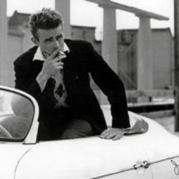Amazon.com: James Dean-White Car, Movie Poster Print, 24 by 36-Inch: James Dean: Home & Kitchen