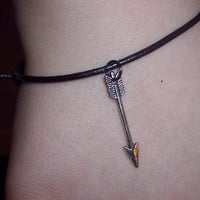 Hunger Games inspired leather bracelet from Wild Ivy