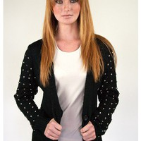 Spiked Knit Cardigan | Sugar and Sequins