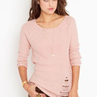 Shredded Knit Tunic - NASTY GAL