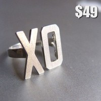 XO Ring, Hugs & Kisses Ring | smilingsilversmith - Jewelry on ArtFire
