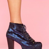 Lita Platform Boot - Metallic Midnight - NASTY GAL