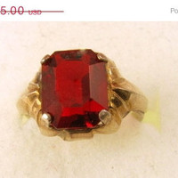 Vintage Ring Clark and Coombs Sterling 10K Yellow Gold