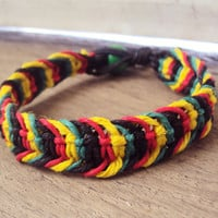 Rasta Hemp Bracelet Macrame Made To Order Jewelry