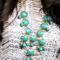 The New Mini Crew Necklace: Green | Hope's