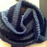 Infinity Scarf in Two Shades of Blue