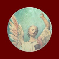 Stardust Angel Coaster from Zazzle.com