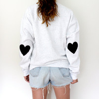 Elbow Heart Sweatshirt - Jet Black