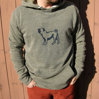 Pug Hoodie, Dog Sweater, Men's Pullover, XS-XXL