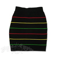 Rasta and Reggae Knit Mini Skirt - Women's @ RastaEmpire.com