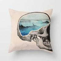 Brain Waves Throw Pillow by Chase Kunz | Society6