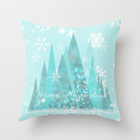 Winter Wonderland  Throw Pillow by Lisa Argyropoulos | Society6