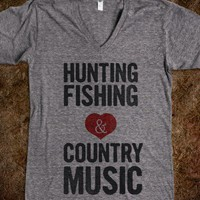 Hunting Fishing &amp; Country Music (Womens)