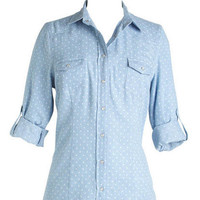 Chambray Pin Dot Shirt