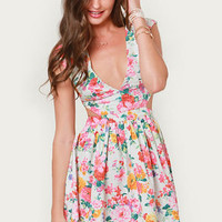 Brat Pack Cutout Floral Print Dress