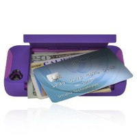 Incipio IPH-679 iPhone 4/4S Stowaway Credit Card Hard Shell Case with Silicone Core - 1-Pack - Retail Packaging - Deep Purple/Purple