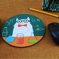 Handmade Gifts | Independent Design | Vintage Goods Chemistry Cat Mousepad - i love him!