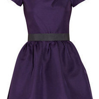Victoria Beckham | Belted silk-gazaar dress | NET-A-PORTER.COM