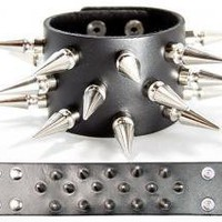 ROCKWORLDEAST - Spiked Wristband, Tree Spikes
