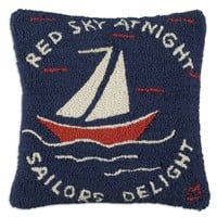 "Sailor's Delight 18"" Square Pillow"