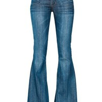 Angie Super Flare Jeans In Moonriver | Aritzia