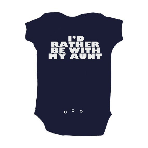 Baby Boy I&#x27;d Rather Be With My Aunt Navy Blue Baby by apericots