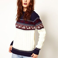 Pop Boutique Reindeer Knitted Jumper at asos.com