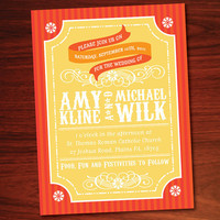 PRINTABLE Carnival Wedding Invitation by KwirkCreative on Etsy