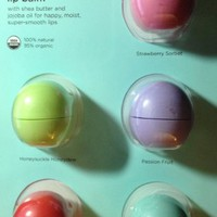 eos Organic Smooth Sphere Lip Balm - Summer Fruit, Sweet Mint, Strawberry Sorbet, Passion Fruit, Hon