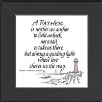 "Amazon.com: Father Saying Frame Black 3.5""x3.5"" Gift Inspirational with Built in Easel: Home & Kitchen"