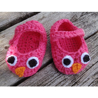 PDF Crochet pattern Baby owl booties by brittandreasen on Etsy