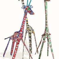 Recycled Aluminum Can Giraffe, Large - The Afternoon
