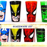 ROCKWORLDEAST - Marvel, Glass Mug Set, Heroes