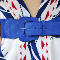 The Simple Stretch Belt: Navy | Hope's