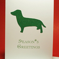 Handmade Holiday Dachshund Dog Breed Greeting by LoveAtFirstBark