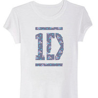 Official 1D Floral Tee