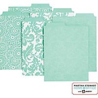 Martha Stewart Home Office™ with Avery™ Vertical File Folders Assorted Blue Patterns, 2 Tabs