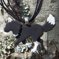 Ambling Wolf Necklace