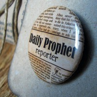 The Daily Prophet Reporter badge by celestefrittata on Etsy