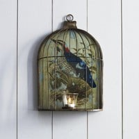 Wall Birdcage Candleholder
