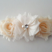 Shabby chic ivory and cream headband - Infant headband - Toddler headband - FREE SHIPPING