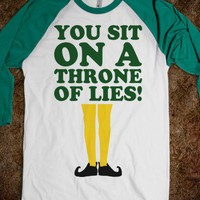 You Sit On A Throne Of Lies (Baseball) - Fun Movie Shirts