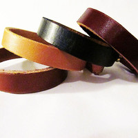 Cicada Leather Company — Simple Leather Bracelet with Button Post - Made in USA